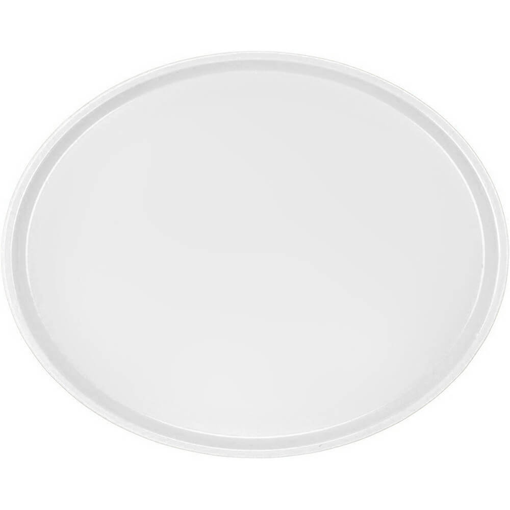 White, Large Restaurant Oval Tray, Fiberglass, 6/PK