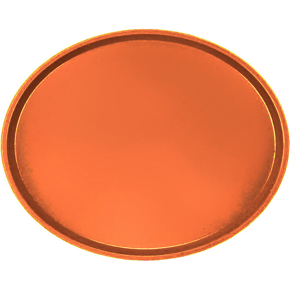 Citrus Orange, Large Restaurant Oval Tray, Fiberglass, 6/PK
