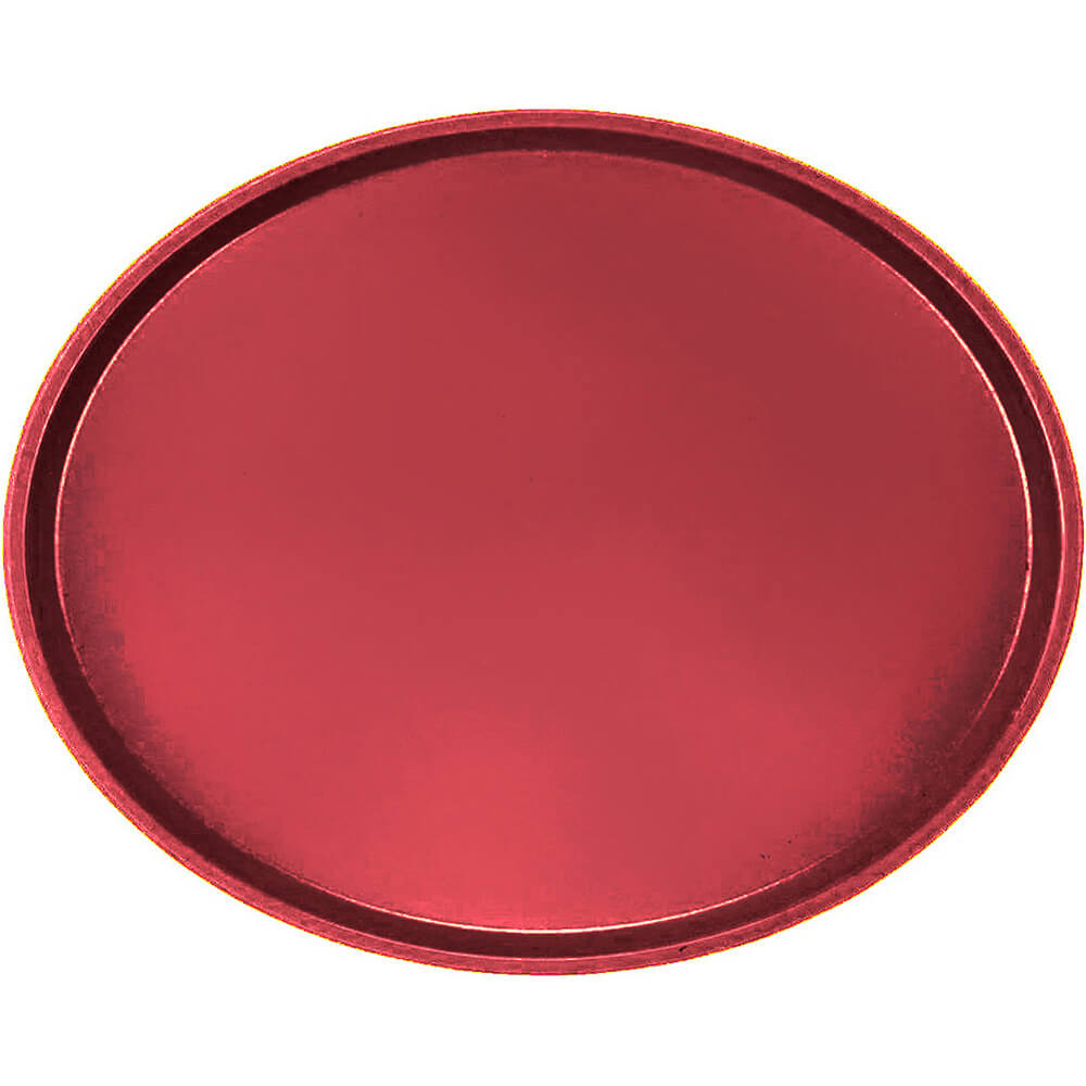 Ever Red, Large Restaurant Oval Tray, Fiberglass, 6/PK