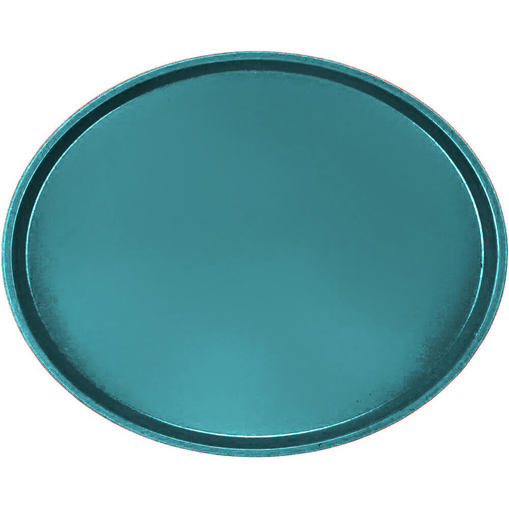 Slate Blue, Large Restaurant Oval Tray, Fiberglass, 6/PK