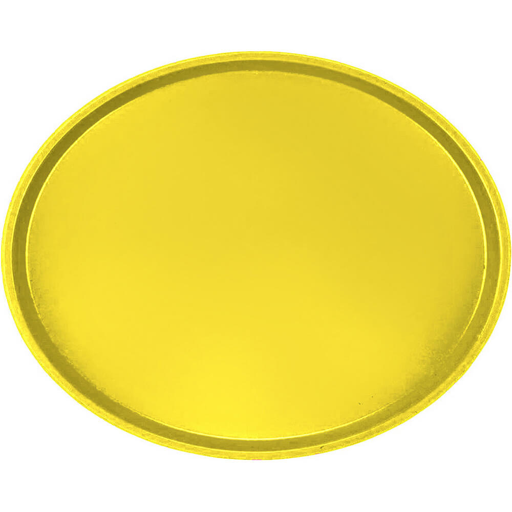 Mustard, Restaurant Oval Tray, Fiberglass, 6/PK