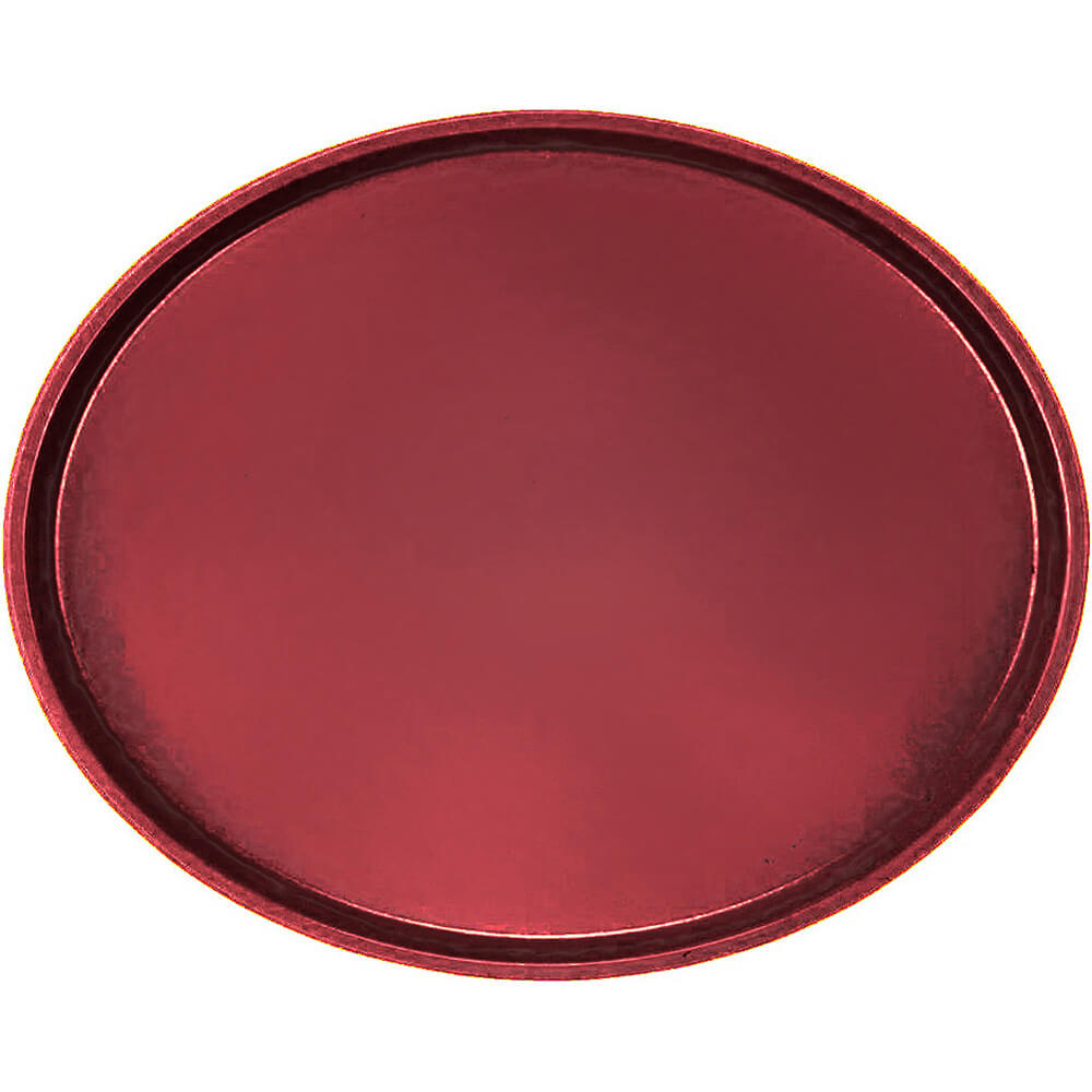 Cherry Red, Large Restaurant Oval Tray, Fiberglass, 6/PK