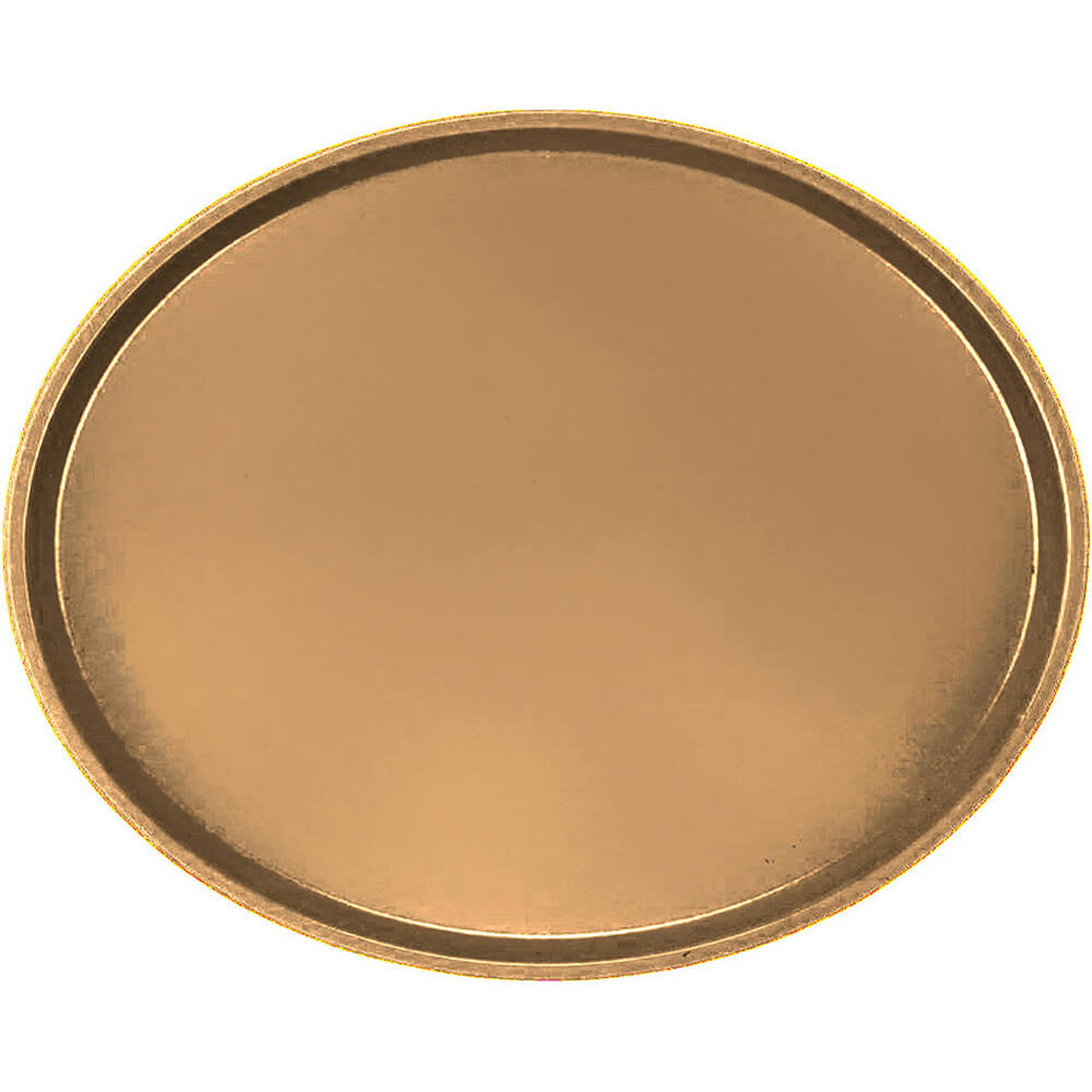 Suede Brown, Large Restaurant Oval Tray, Fiberglass, 6/PK