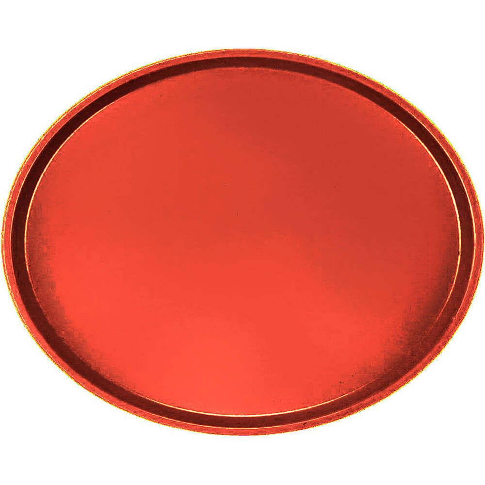 Signal Red, Large Restaurant Oval Tray, Fiberglass, 6/PK