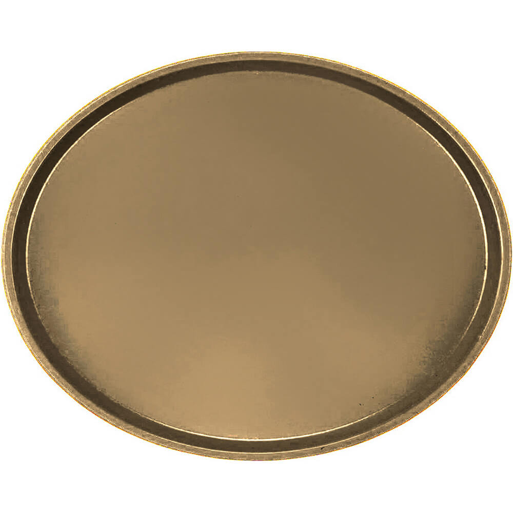 Bay Leave Brown, Large Restaurant Oval Tray, Fiberglass, 6/PK