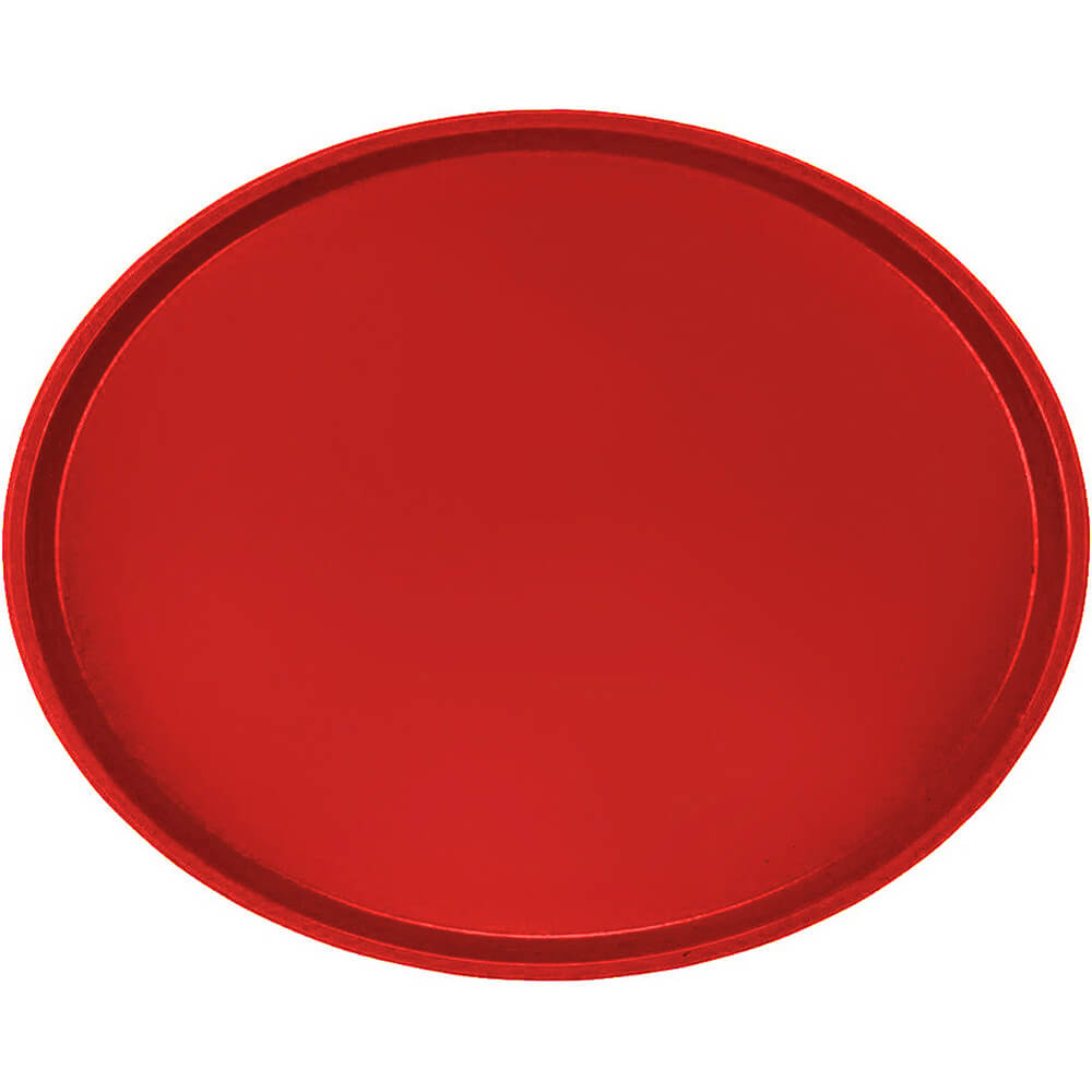 Cambro Red, Restaurant Oval Tray, Fiberglass, 6/PK