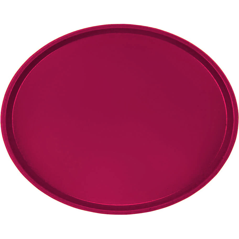 Burgundy Wine, Restaurant Oval Tray, Fiberglass, 6/PK