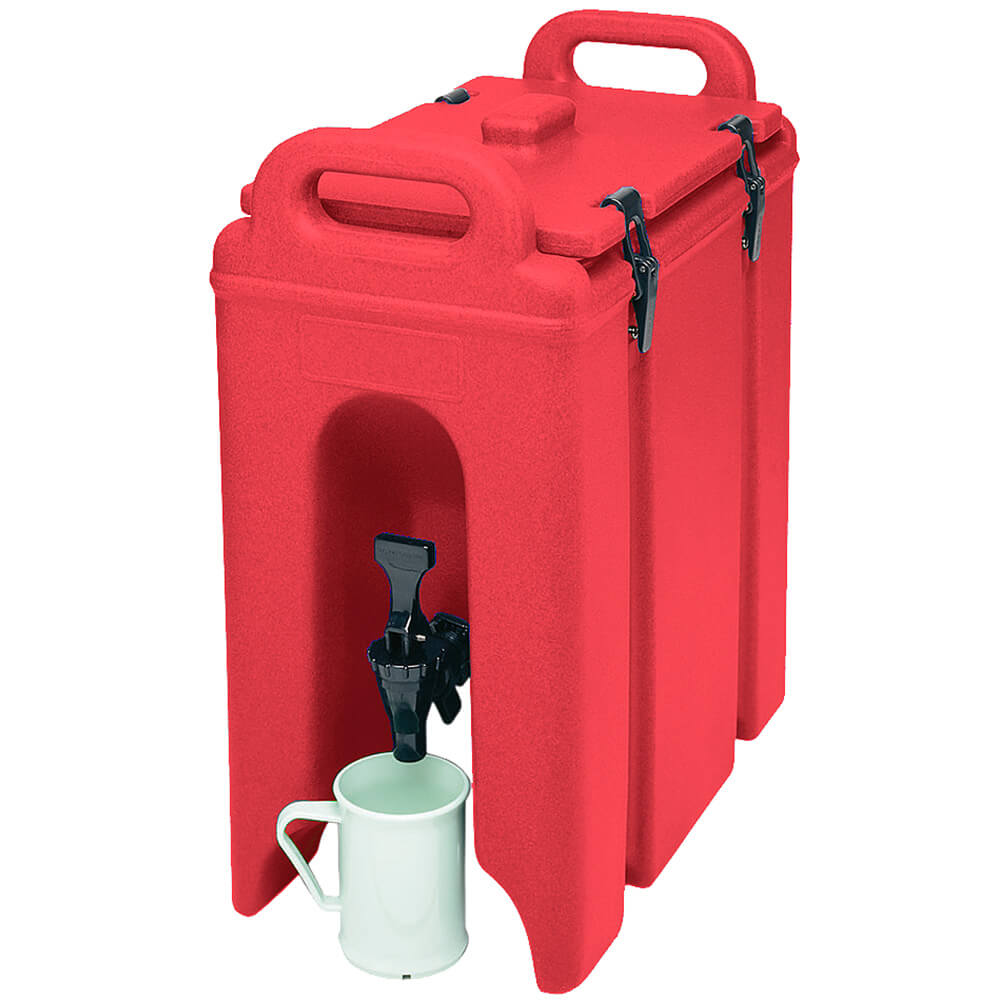 Hot Red, 2.5 Gal. Insulated Beverage Dispenser