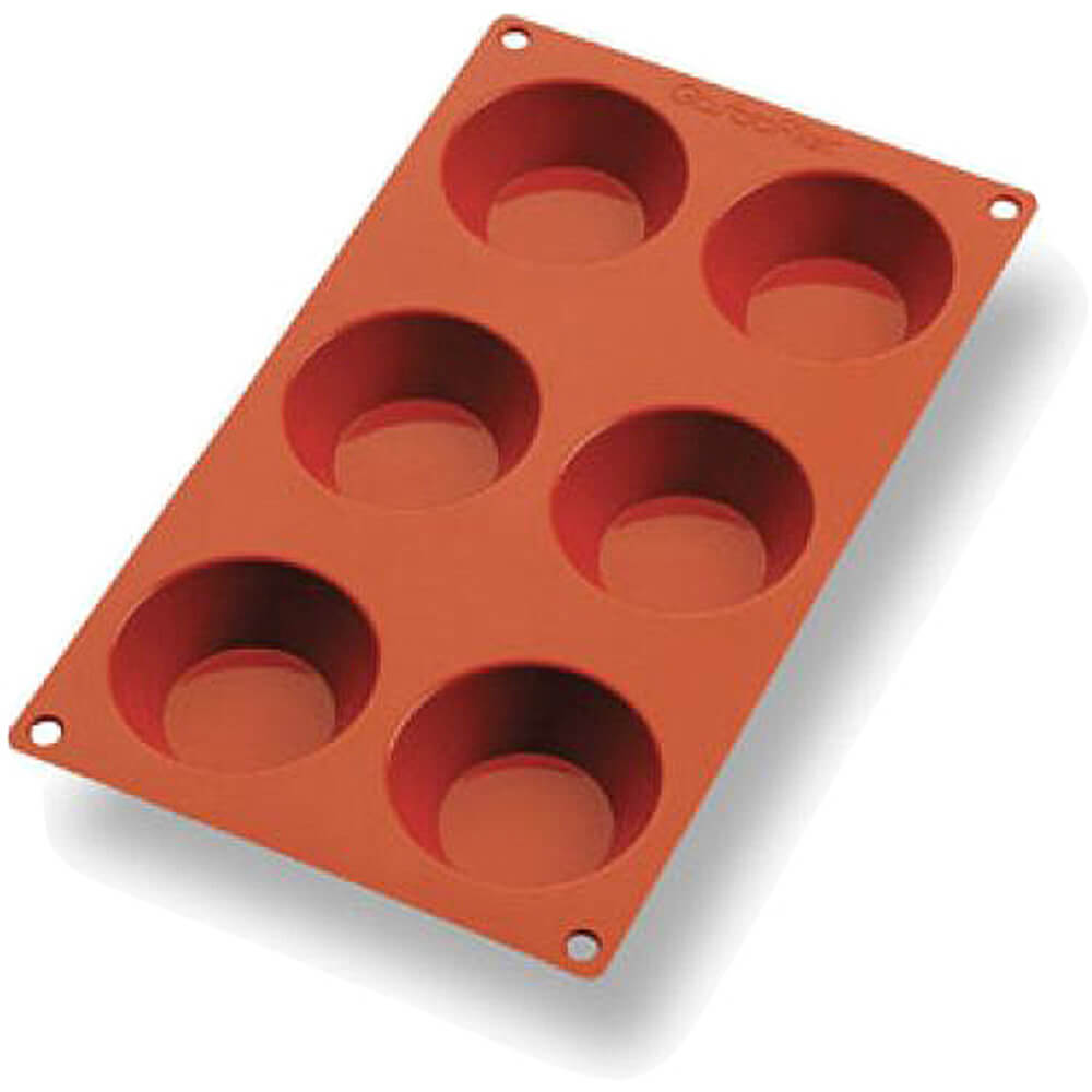 Orange, Silicone Gastroflex Tatin Tart Mold, Sheet Of 6