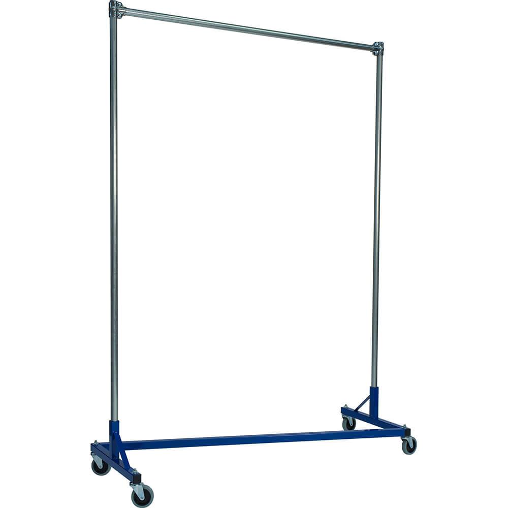 "Blue Z-Rack, Heavy Duty Clothes Rack 60"" L x 72"" Uprights, Single Rail"