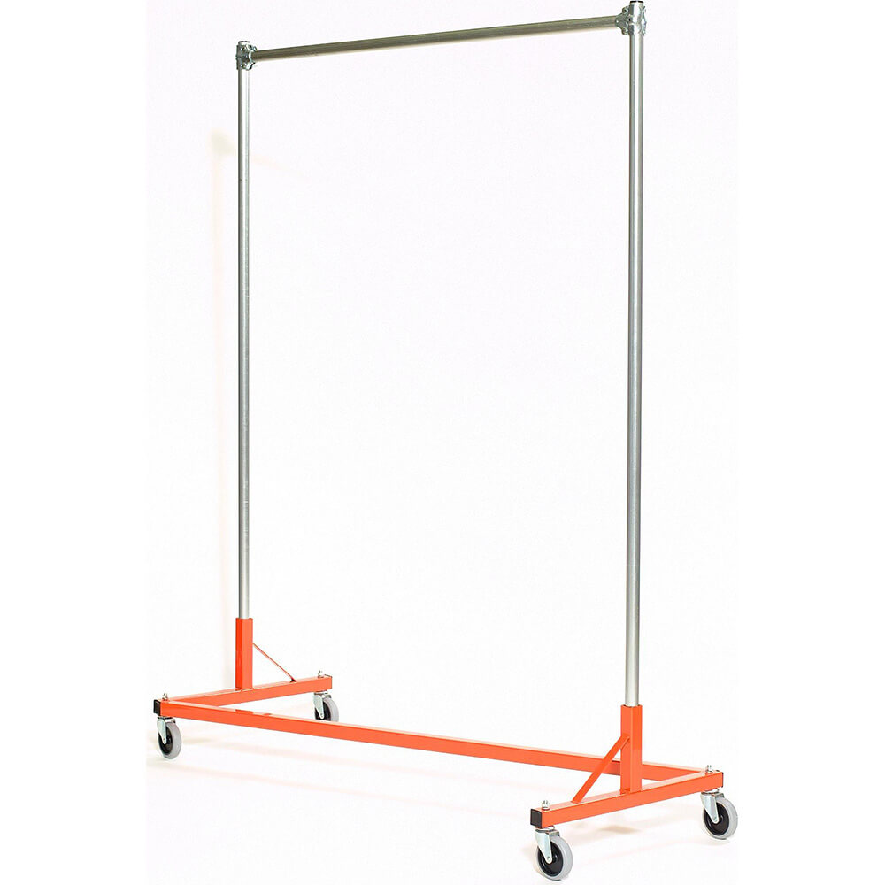 "Orange Z-Rack, Heavy Duty Clothes Rack 60"" L x 72"" Uprights, Single Rail"
