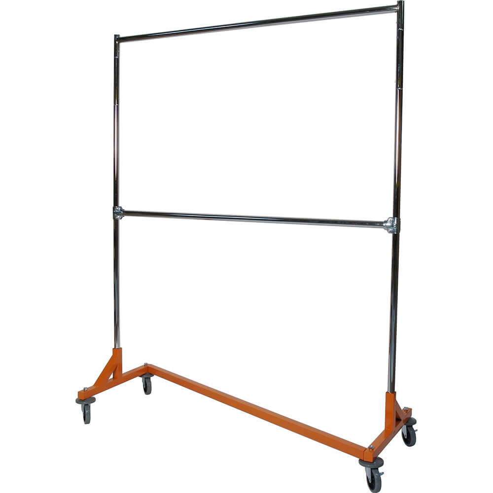 "Orange Z-Rack, Laundry Room Clothes Rack 60"" L x 72"" Uprights, Double Rail"