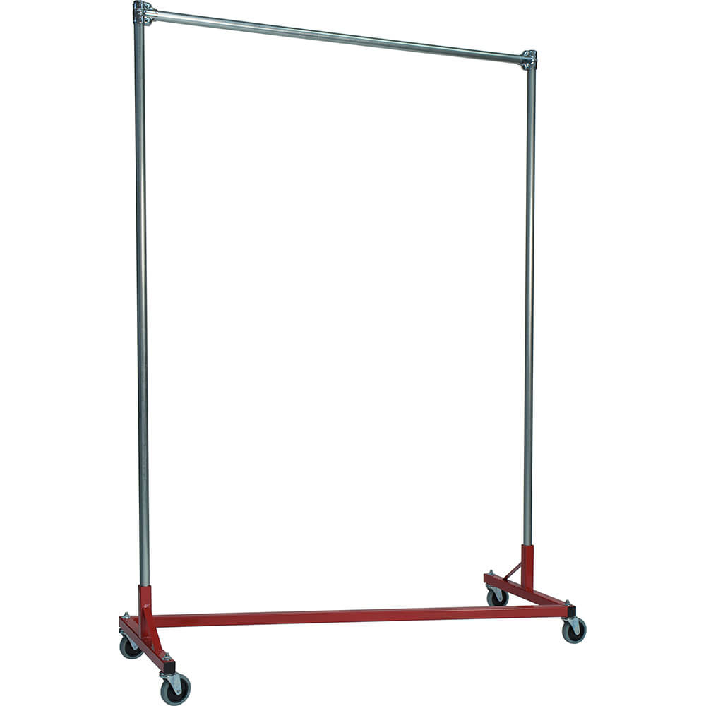 "Red Z-Rack, Heavy Duty Clothes Rack 60"" L x 84"" Uprights, Single Rail"