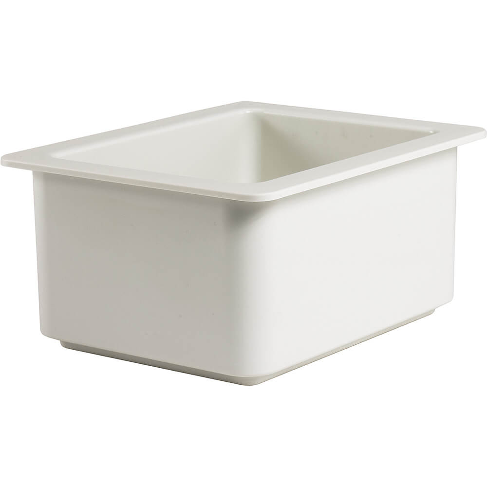 White, 1/2 GN Cold Food Pan, 6.5 Qt.