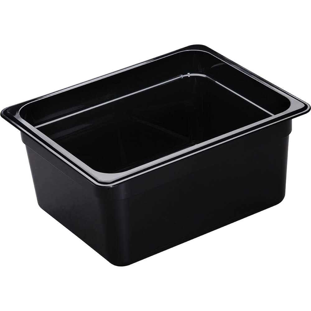 "Black, 1/2 GN High Heat Food Pan, 6"" Deep, 6/PK"
