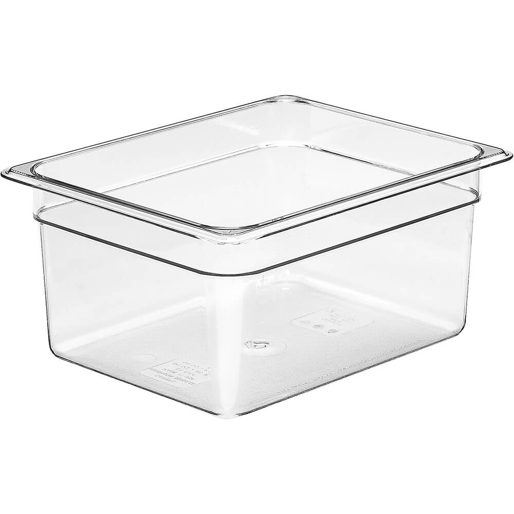"Clear, 1/2 GN Food Pan, 6"" Deep, 6/PK"