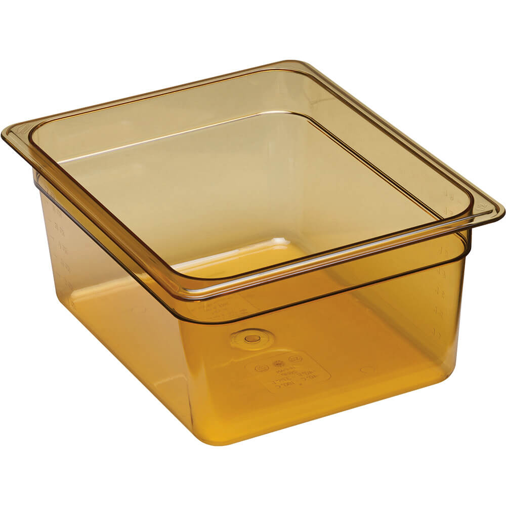 "Amber, 1/2 GN High Heat Food Pan, 6"" Deep, 6/PK"