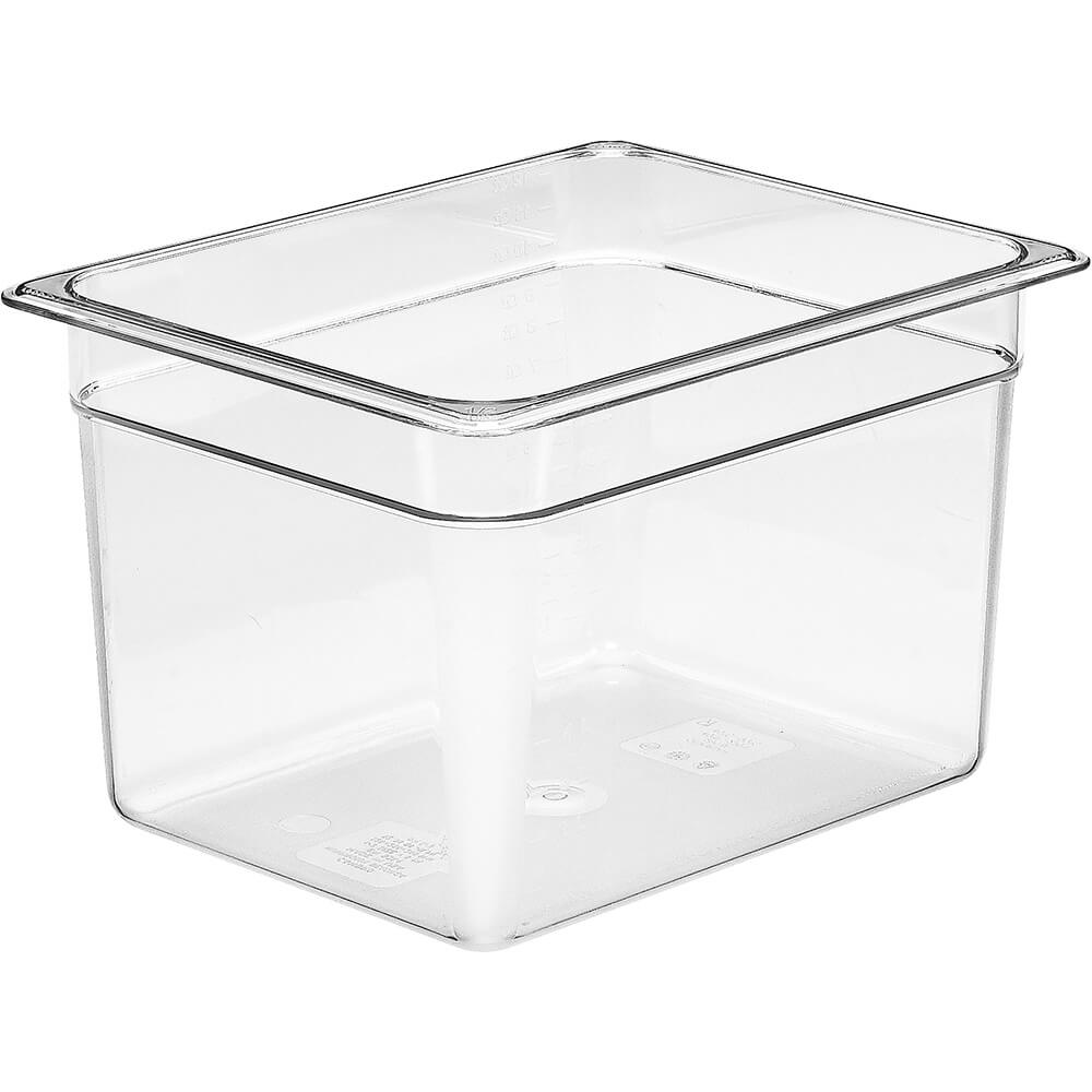 "Clear, 1/2 GN Food Pan, 8"" Deep, 6/PK"