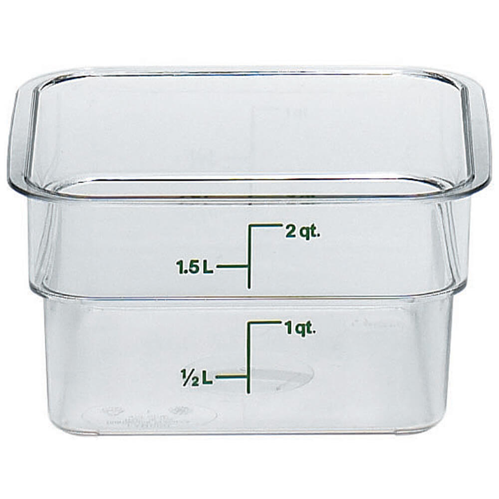 Clear, 2 Qt. CamSquare Food Storage Containers, 6/PK