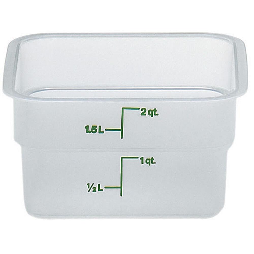 Translucent, 2 qt. Translucent CamSquare Food Storage Containers, 6/PK