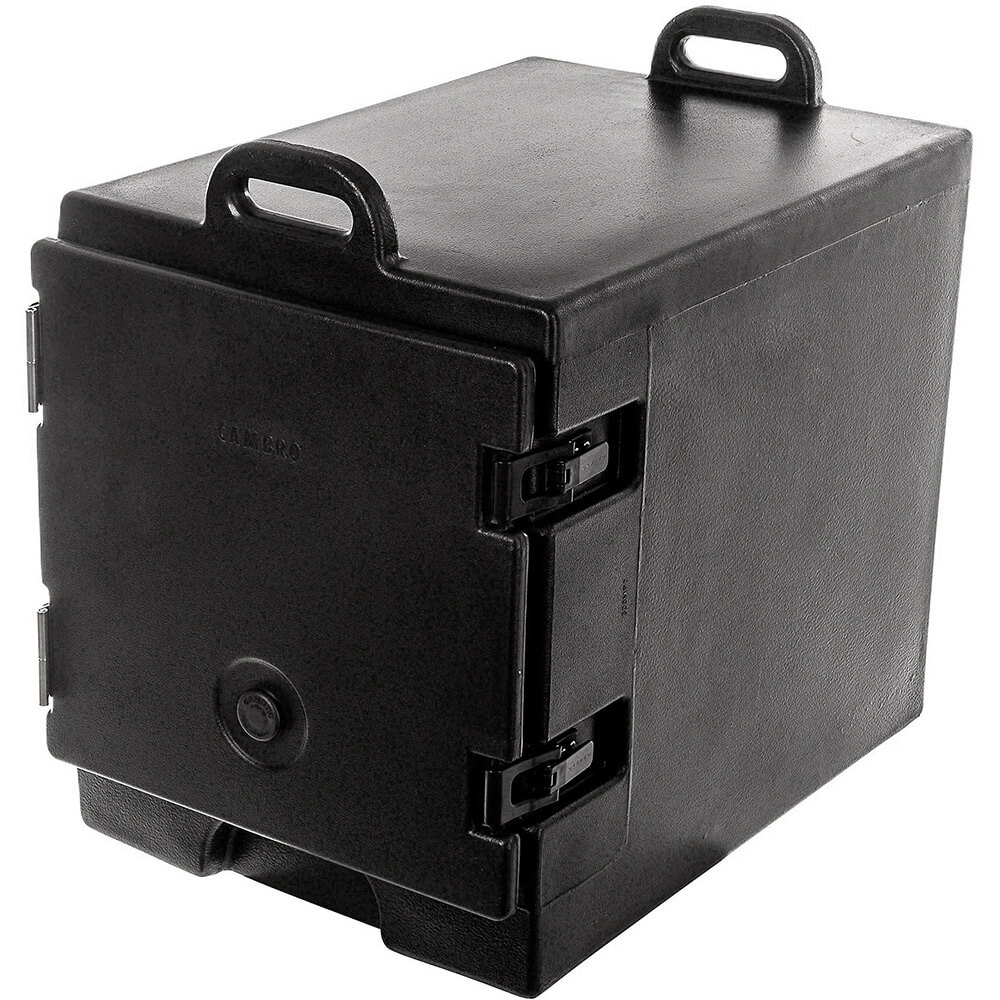 Black, Insulated Food Carrier for 13x18 Sheet Pans, Stackable View 2