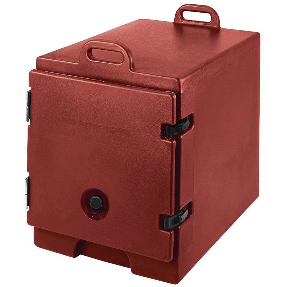 Brick Red, Insulated Front Loading Food Carrier, Full Size Pans View 2