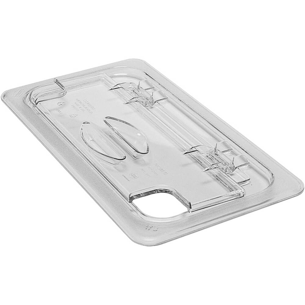 Clear, 1/3 GN FlipLid Lids Notched, 6/PK