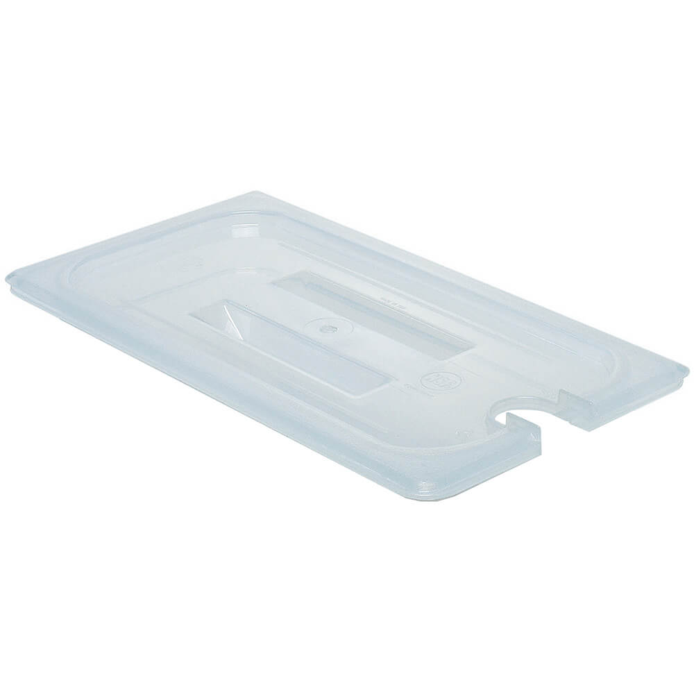 Translucent, 1/3 GN Notched Lid with Handle, 6/PK