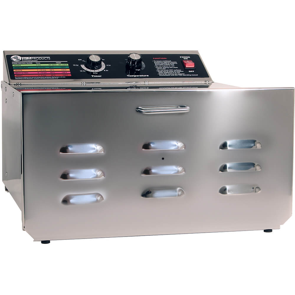 "Stainless Steel, D-5 Food Dehydrator with 1/4"" Stainless Steel Shelves"