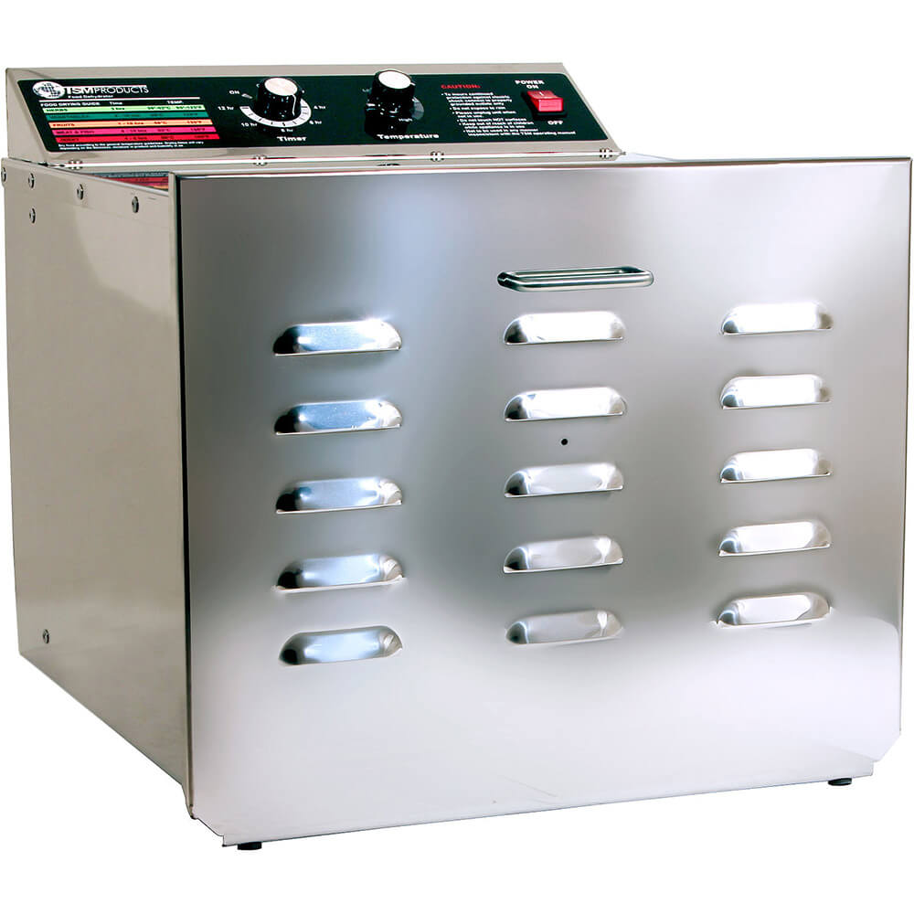 "Stainless Steel, D-10 Food Dehydrator with 1/4"" Stainless Steel Shelves"
