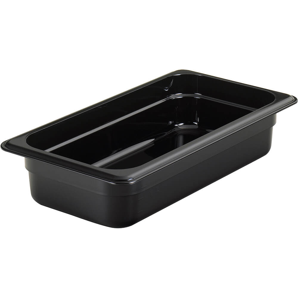 "Black, 1/3 GN High Heat Food Pan, 2 1/2"" Deep, 6/PK"