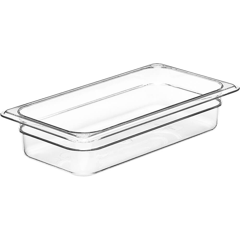 "Clear, 1/3 GN Food Pan, 2-1/2"" Deep, 6/PK"