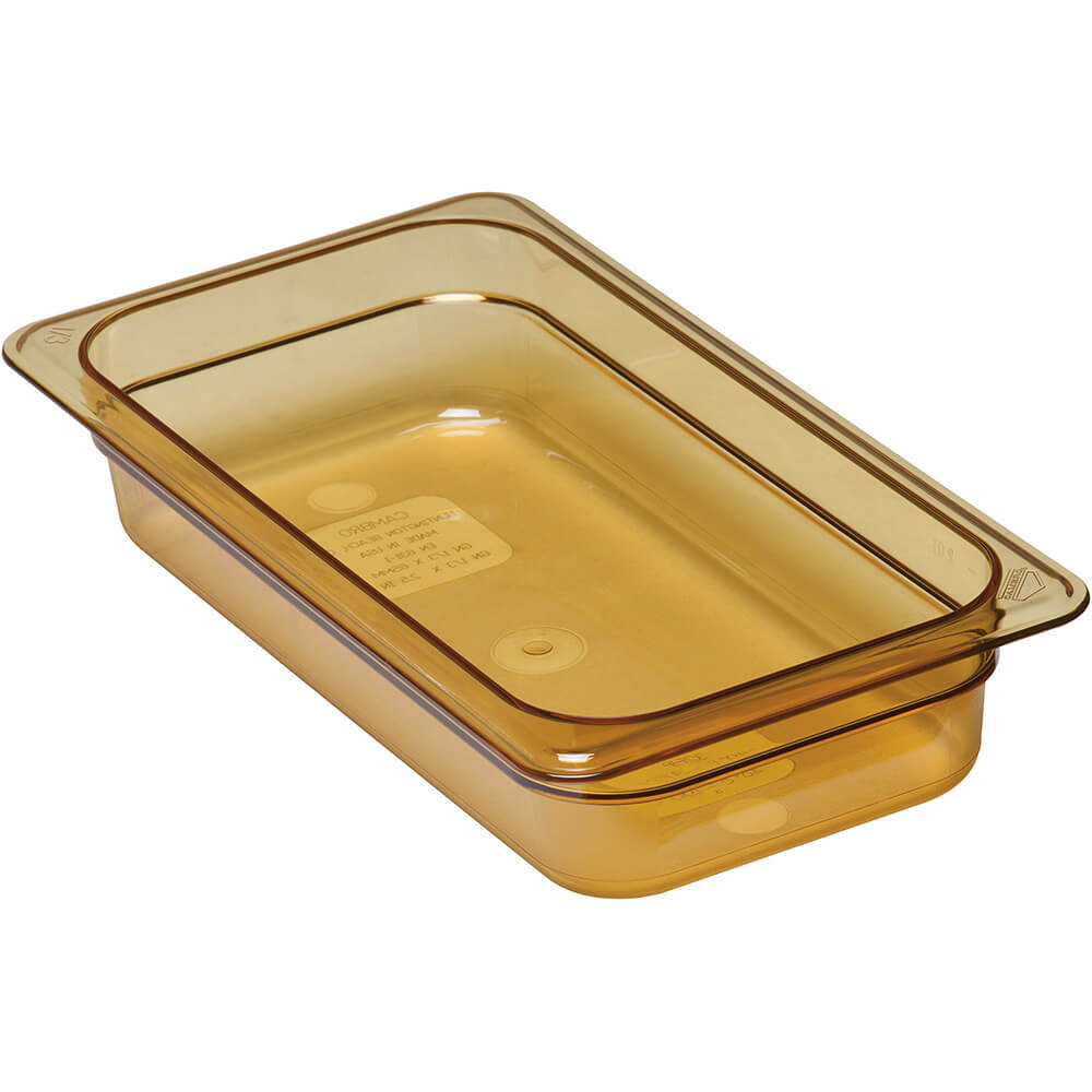 "Amber, 1/3 GN High Heat Food Pan, 2 1/2"" Deep, 6/PK"