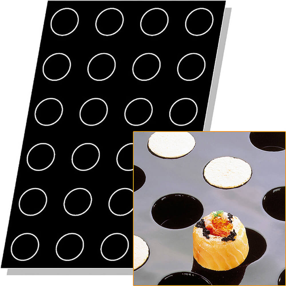 Silicone Flexipan Cylinder Shape Baking Molds, 24 Cups