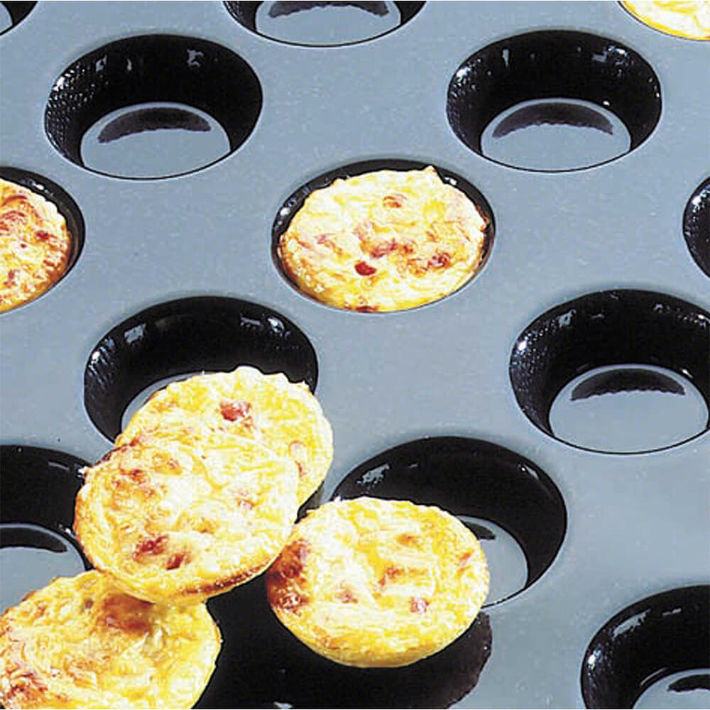 matfer bourgeat silicone flexipan mini quiche tartlet pan 60 cups 336007. Black Bedroom Furniture Sets. Home Design Ideas