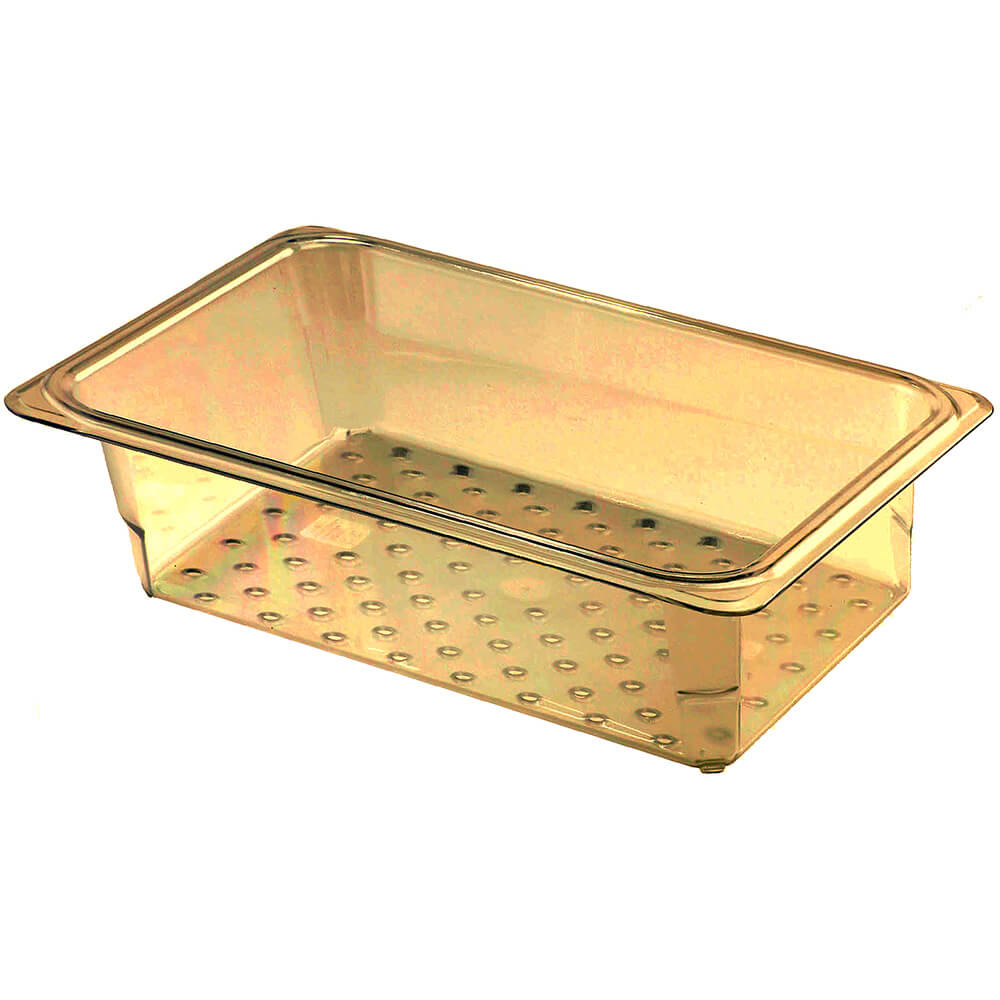 "Amber, High Heat Perforated Pan / Colander, GN 1/3, 3"" Deep, 6/PK"