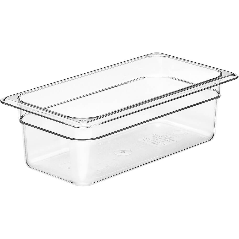 "Clear, 1/3 GN Food Pan, 4"" Deep, 6/PK"