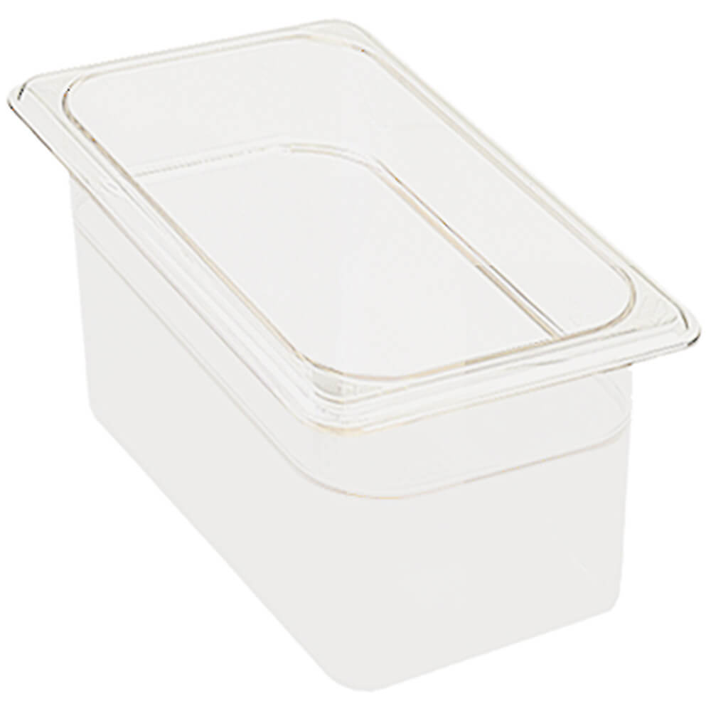 "White, 1/3 GN Food Pan, 4"" Deep, 6/PK"