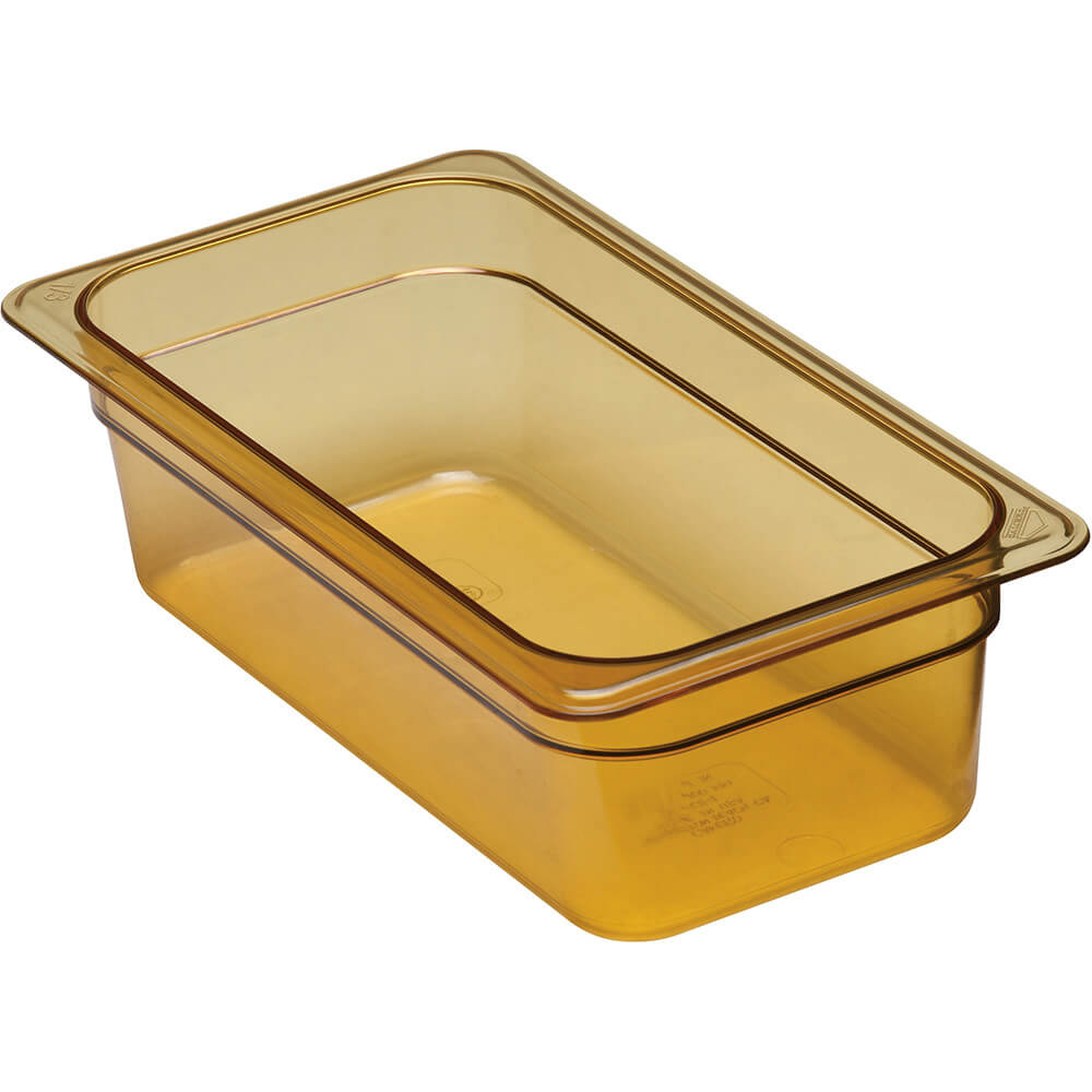 Cambro Amber 1 3 Gn Steam Table Pans High Heat Plastic