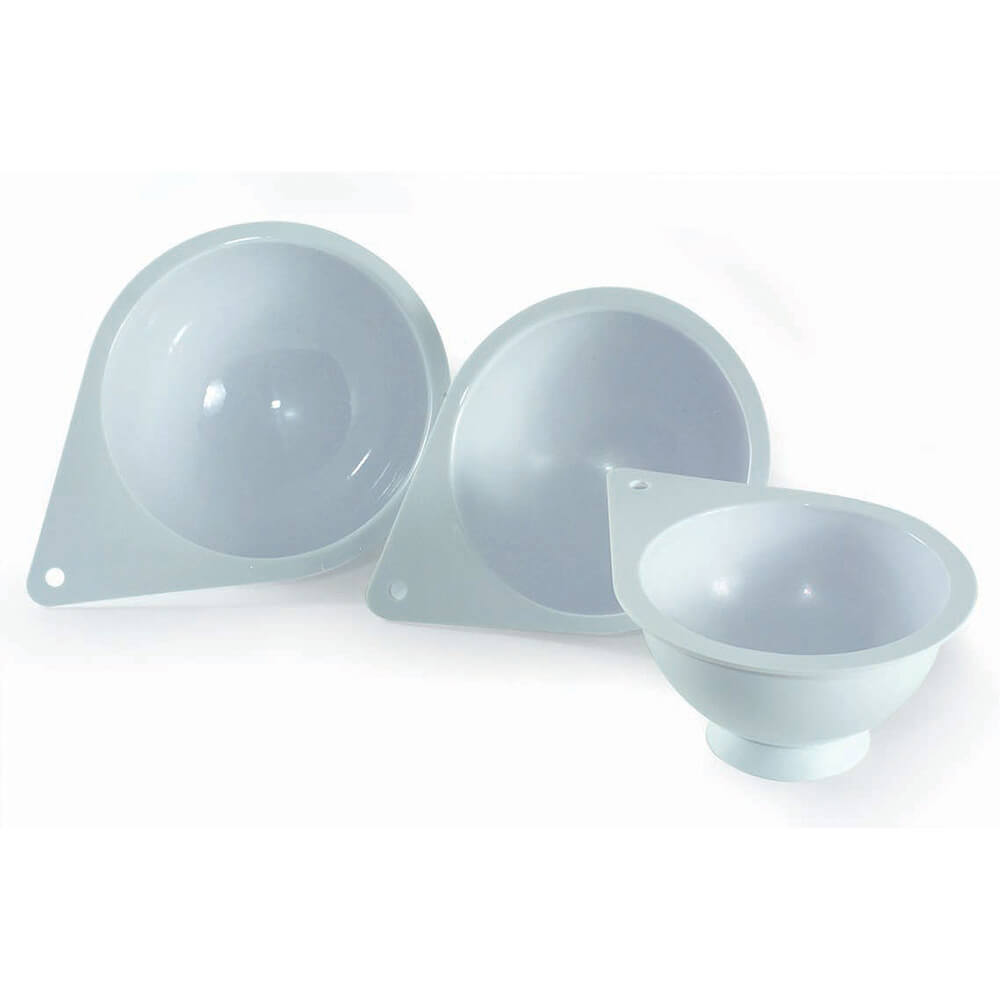Polymer Round Dome Chocolate Molds, Set Of 3 Sizes