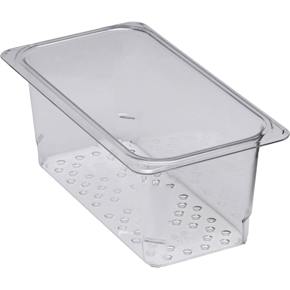 """Clear, Perforated Pan / Colander, GN 1/3, 5"""" Deep, 6/PK"""