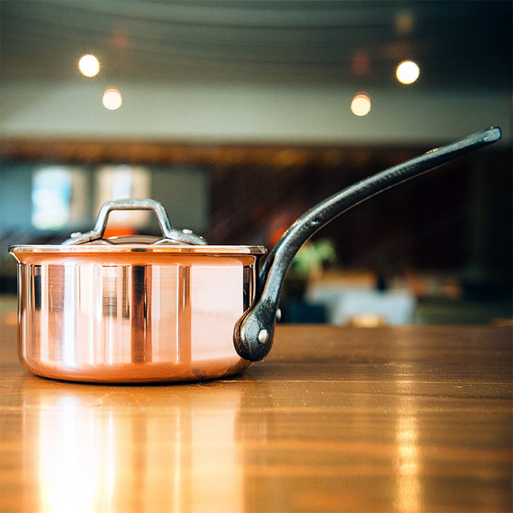 """Copper, Saucepan With Lid, 7.87"""""""