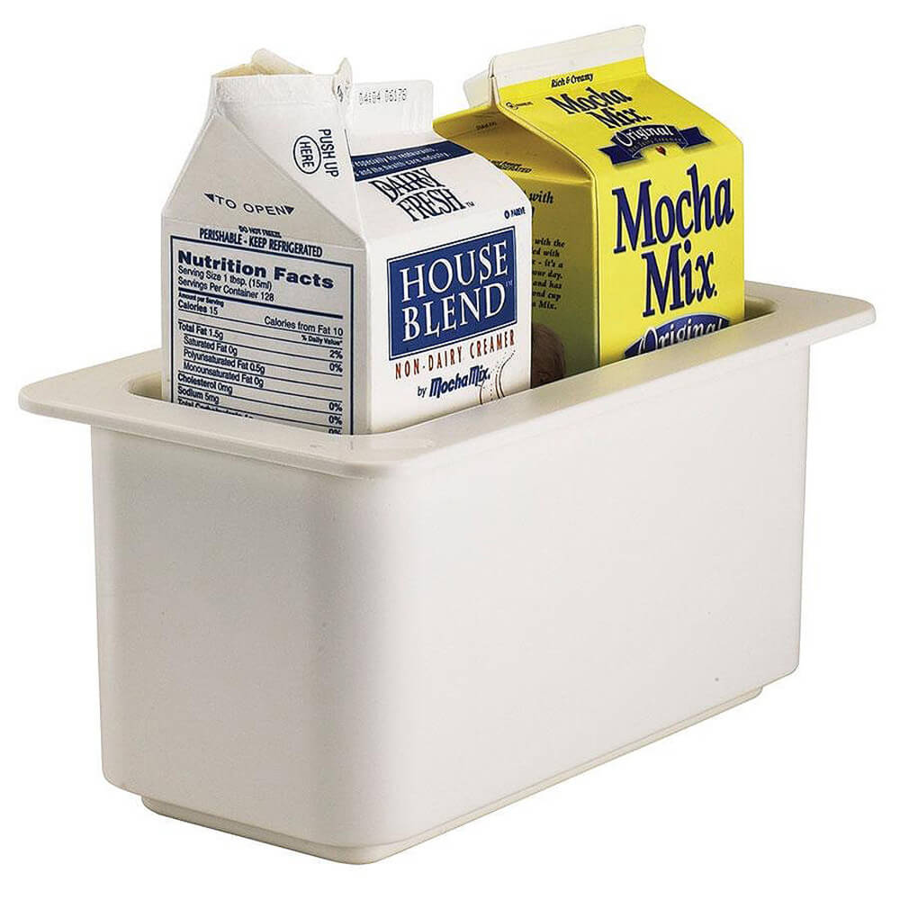 White, 1/3 GN Cold Food Pan, 3.7 Qt. View 2