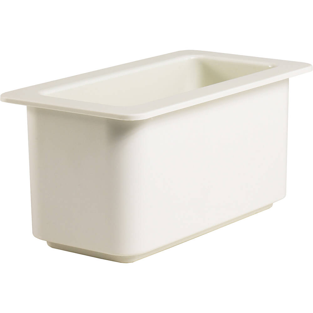 White, 1/3 GN Cold Food Pan, 3.7 Qt.
