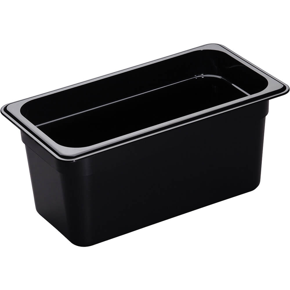 "Black, 1/3 GN High Heat Food Pan, 6"" Deep, 6/PK"
