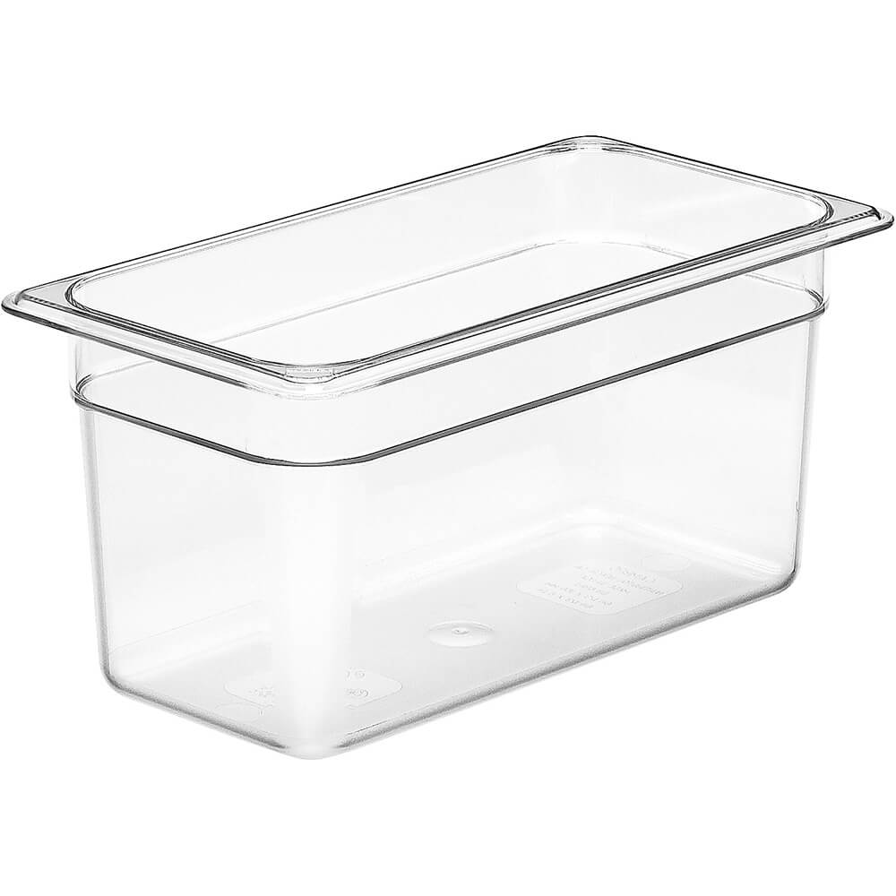 "Clear, 1/3 GN Food Pan, 6"" Deep, 6/PK"