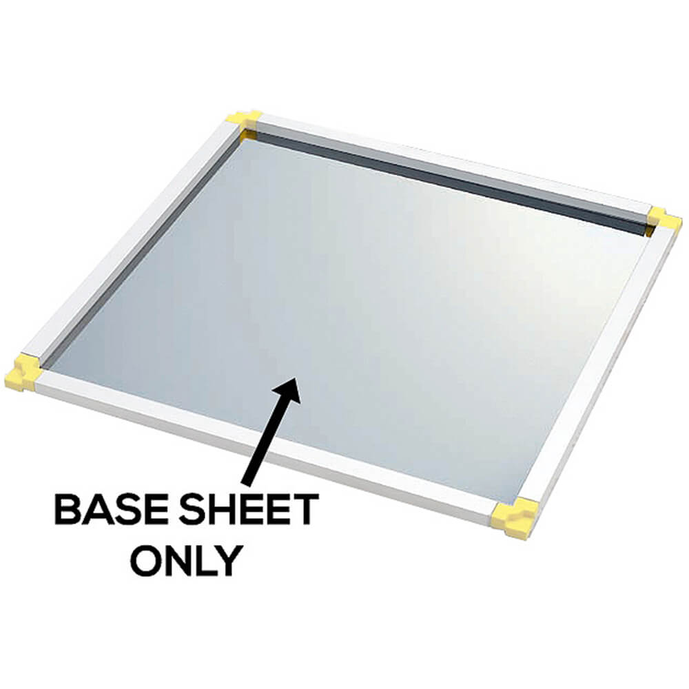 """Stainless Steel Base Sheet For Stackable Frames, 13.75"""" X 13.75"""" View 2"""