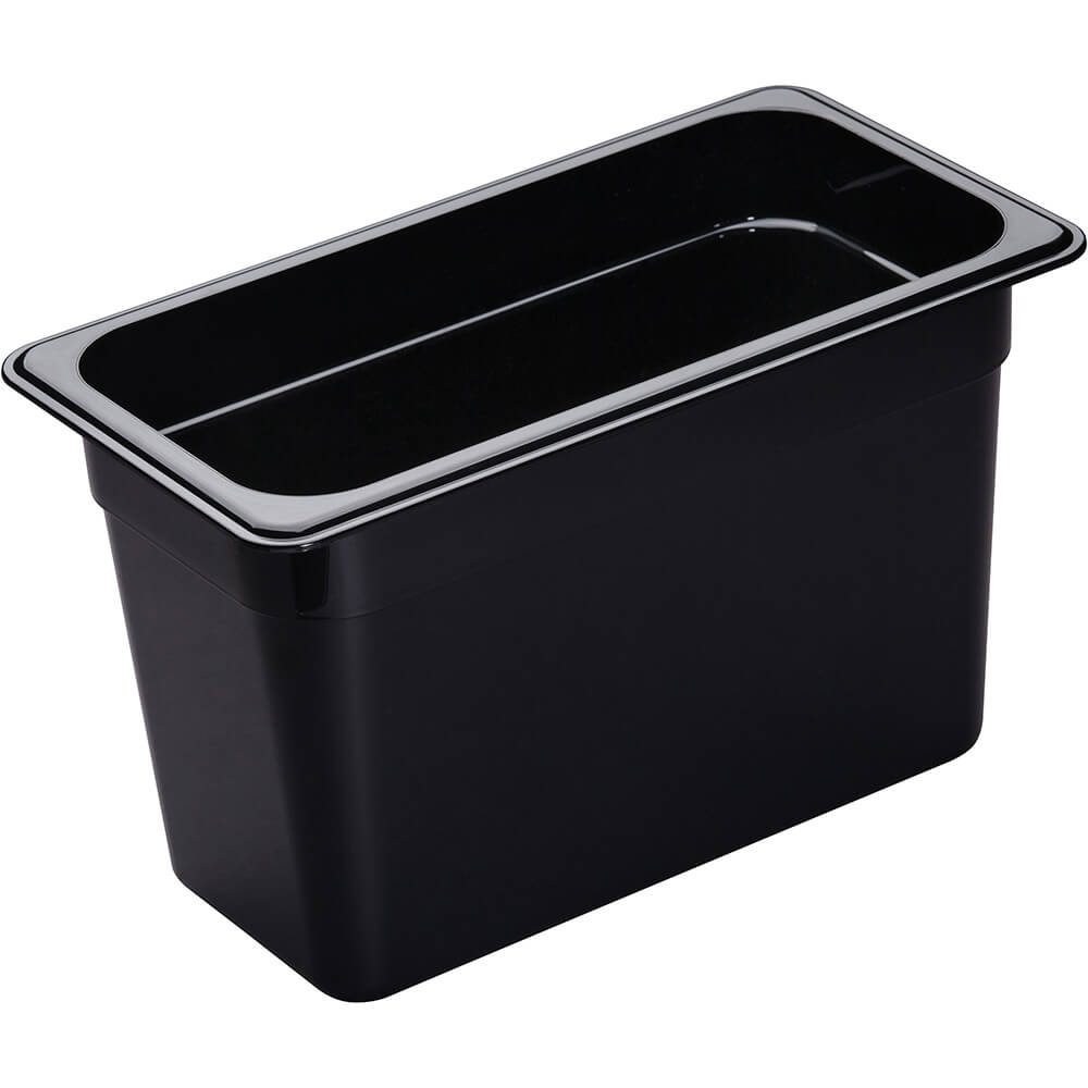 "Black, 1/3 GN Food Pan, 8"" Deep, 6/PK"