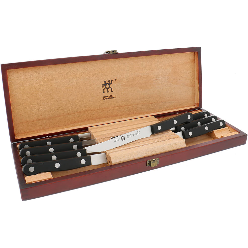 Twin 8pc Gourmet Steak Knife Set W/ Presentation Box