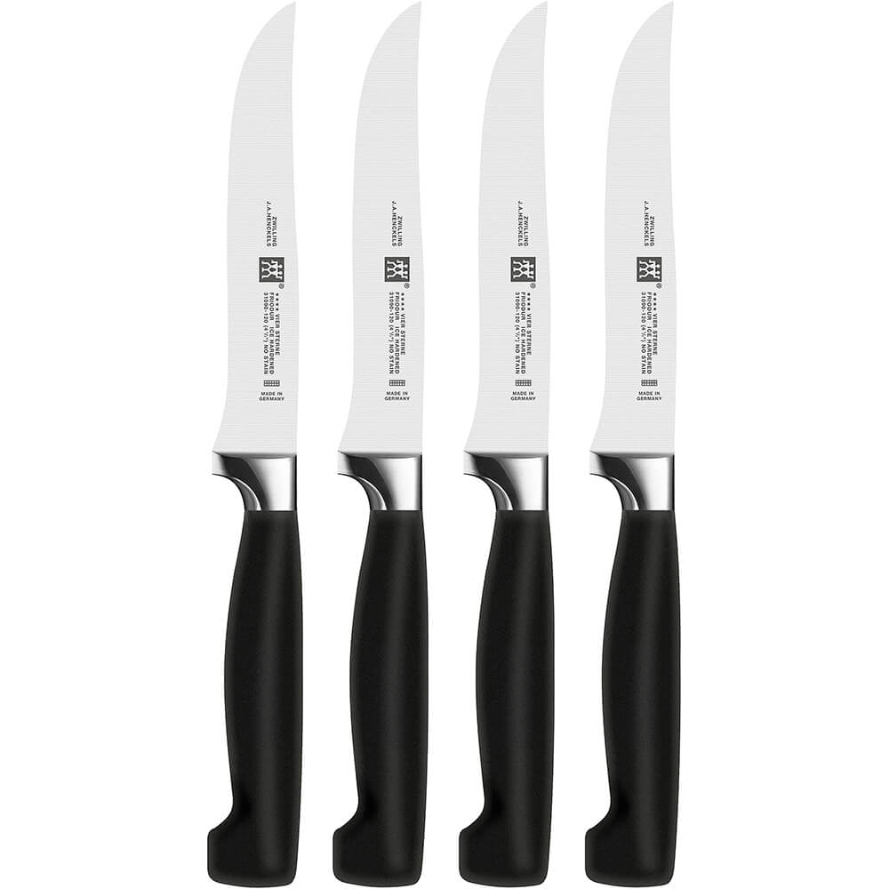 "Four Star 4pc 4.5"" Steak Knife Set, Pointed Tip"
